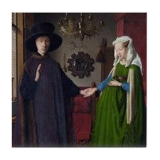Arnolfini Marriage (by Jan van Eyck) Tile Coaster