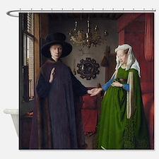 Arnolfini Marriage (by Jan van Eyck) Shower Curtai