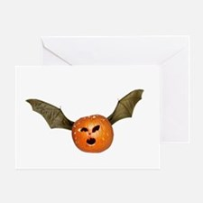 Flying Jack-o-Lantern Greeting Card