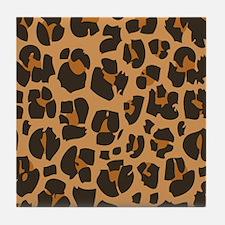 Cheetah Print Tile Coaster