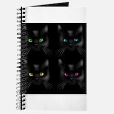 Black Cat Pattern Journal