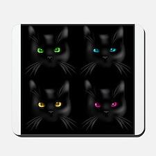 Black Cat Pattern Mousepad