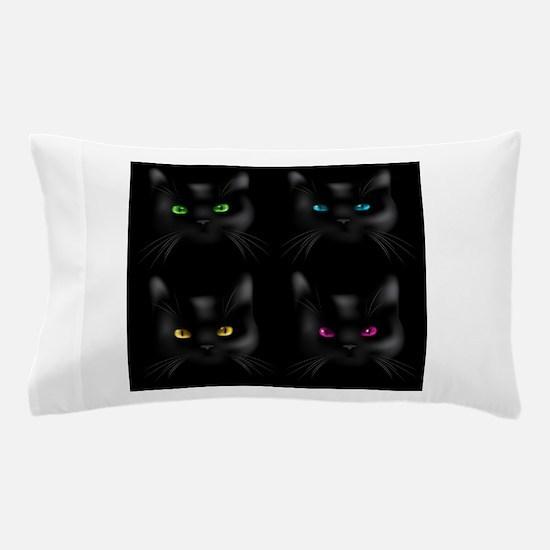 Black Cat Pattern Pillow Case