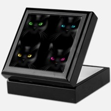 Black Cat Pattern Keepsake Box