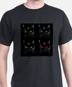 Black Cat Pattern T-Shirt