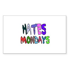 I HATE MONDAYS (COLORFUL LETTERS) Decal