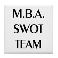 MBA SWOT Team Tile Coaster