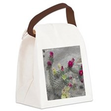 Desert Flower Canvas Lunch Bag