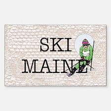 Ski Maine Sticker (Rectangle)