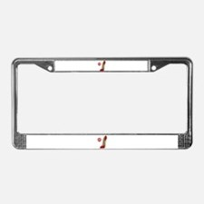Red Lace Stiletto and Kiss License Plate Frame