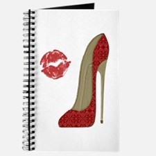 Red Lace Stiletto and Kiss Journal