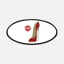 Red Lace Stiletto and Kiss Patches