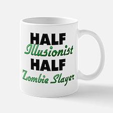 Half Illusionist Half Zombie Slayer Mugs