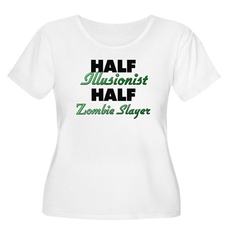 Half Illusionist Half Zombie Slayer Plus Size T-Sh