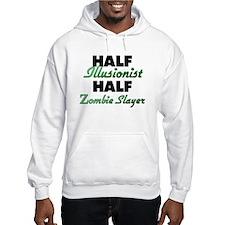 Half Illusionist Half Zombie Slayer Hoodie