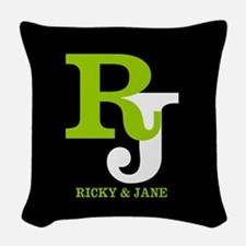 Modern Monogram Woven Throw Pillow