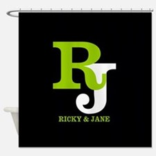 Modern Monogram Shower Curtain