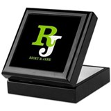 Custom monogram Square Keepsake Boxes