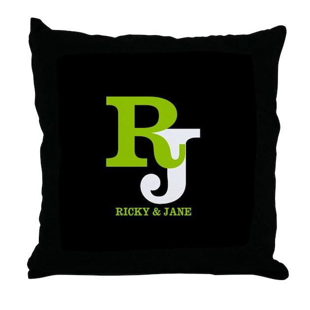 Modern Monogram Throw Pillow by CustomGifts123