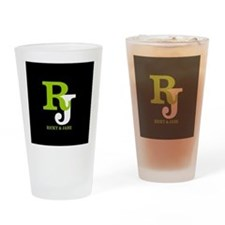 Modern Monogram Drinking Glass