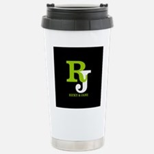 Modern Monogram Stainless Steel Travel Mug