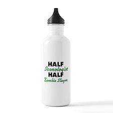 Half Iconologist Half Zombie Slayer Water Bottle