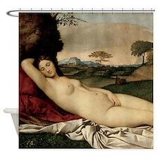 Sleeping Venus (by Giorgione) Shower Curtain