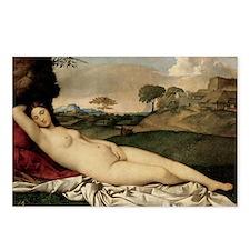 Sleeping Venus (by Giorgione) Postcards (Package o
