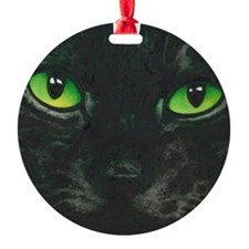 Black Cat Nebula by Lori Alexander Round Ornament