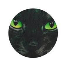 "Black Cat Nebula by Lori Alexander 3.5"" Button"