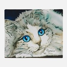 Ragdoll Cat Michelle by Lori Alexand Throw Blanket