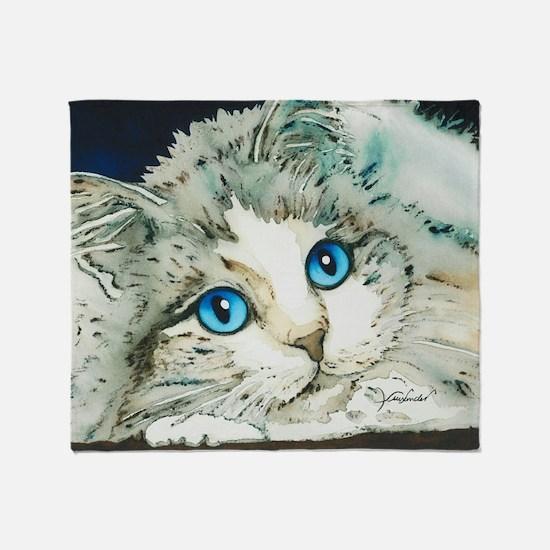 Ragdoll Cat Michelle by Lori Alexand Throw Blanket