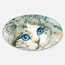 Ragdoll Cat Michelle by Lori Alexan Sticker (Oval)