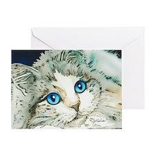 Ragdoll Cat Michelle by Lori Alexand Greeting Card