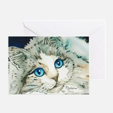 Ragdoll Cat Michelle by Lori Alexand Greeting Card