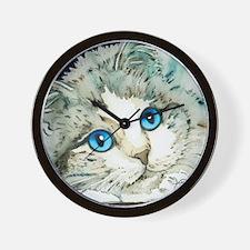 Ragdoll Cat Michelle by Lori Alexander Wall Clock