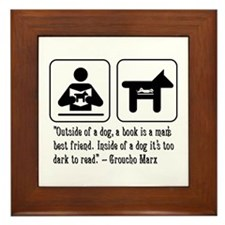 Book man's best friend Groucho Marx Framed Tile