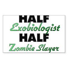 Half Exobiologist Half Zombie Slayer Decal