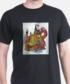 Dragon & Castle (Front) T-Shirt