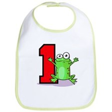 1st Birthday Froggy Bib