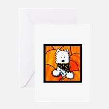 Pumpkin Patch Westie Greeting Card