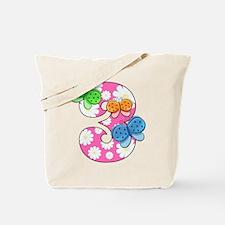 3rd Birthday Butterflies Tote Bag