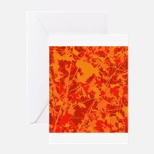 Fall Abstract Greeting Cards
