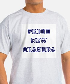 Proud New Grandpa Ash Grey T-Shirt