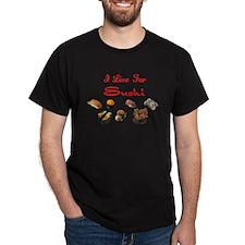 I Live For Sushi Black T-Shirt