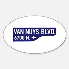 Van Nuys Blvd., Los Angeles - USA Oval Decal