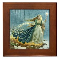 Spring Fairy Framed Tile