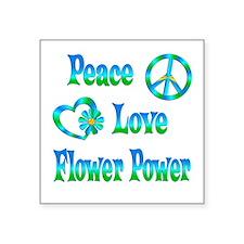 "Flower Power Square Sticker 3"" x 3"""