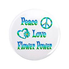 "Flower Power 3.5"" Button (100 pack)"
