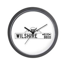 Wilshire Blvd., Los Angeles - USA Wall Clock